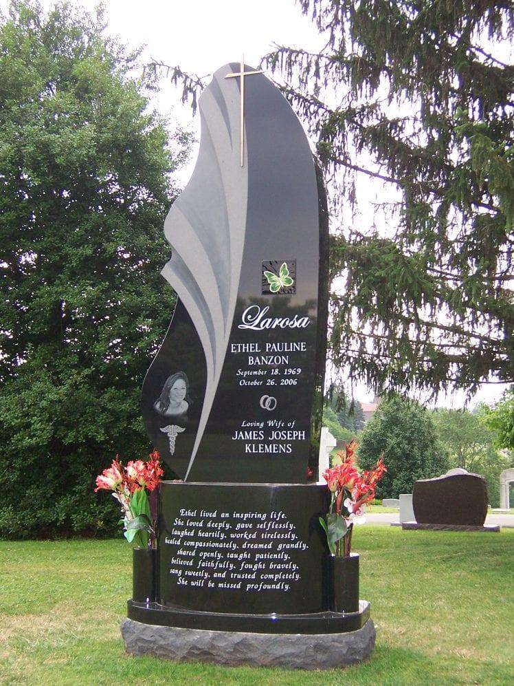 Vertical Upright Headstones Amp Estate Monuments Evans Monument Company